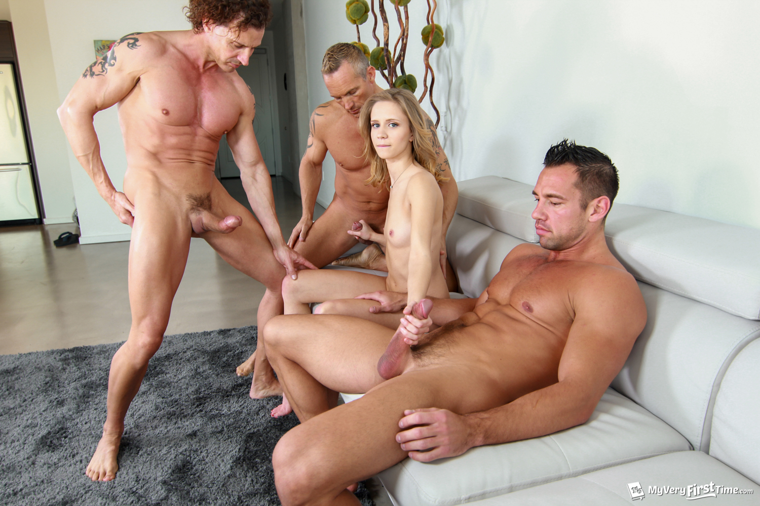 Brutal vaginal fisting gang bang-3559